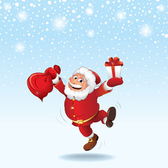 Santa Claus Christmas background Merry Christmas