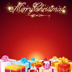 Christmas Greeting Card Vector Background