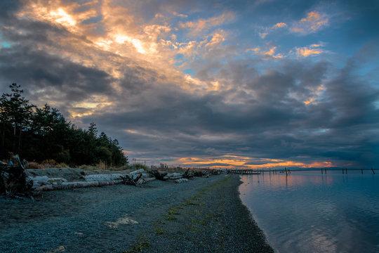 Sunset Sequim Washington Beach