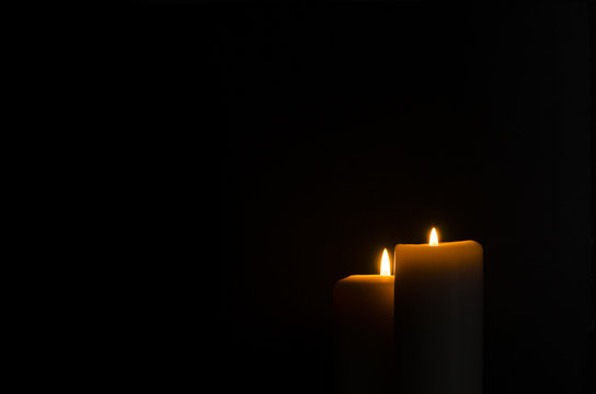 Fire Candle In Black