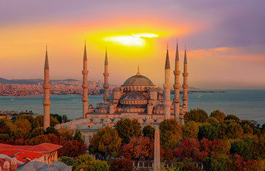 The Blue Mosque, (Sultanahmet), Istanbul, Turkey.
