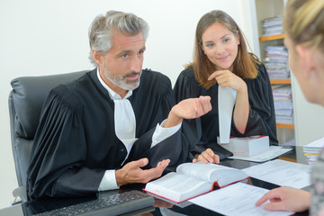 successful lawyer giving consultation to a woman