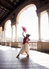 Professional Flamenco dancer. Spain.