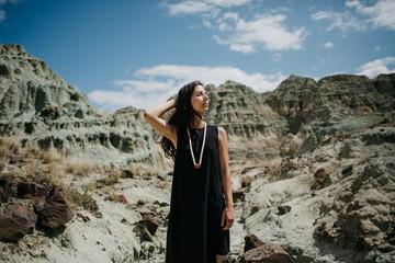 Girl in Blue Desert