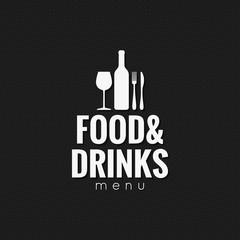 Restaurant menu. Food and drink background