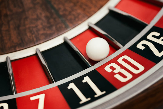 Casino: Ball Rests In 30 Slot On Roulette Wheel