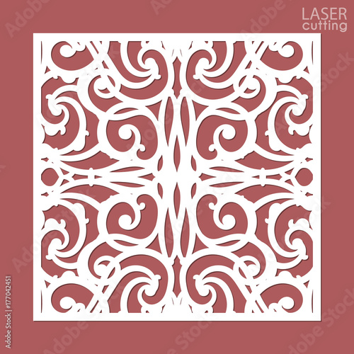 Laser cut square ornamental panel with pattern template of wedding laser cut square ornamental panel with pattern template of wedding invitation or greeting card stopboris Choice Image