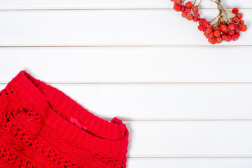 Red sweater background