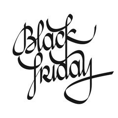 Black Friday lettering. Black Friday calligraphy text