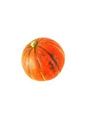 Orange pumpkin. Isolated on white background.