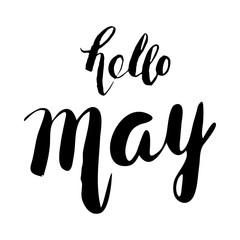 hello May. Handwritten lettering.