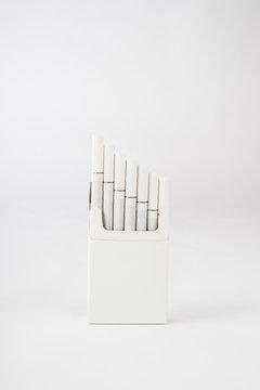 Cigarette Hard Pack 100's on White