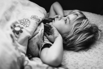 Child waking up.