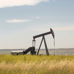 Oil field pump in the USA