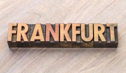 Keuken foto achterwand Hoogte schaal Frankfurt word abstract in wood type