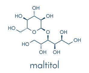 Maltitol sugar alcohol sweetener molecule. Skeletal formula.