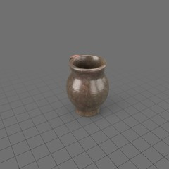 Shallow ceramic pitcher