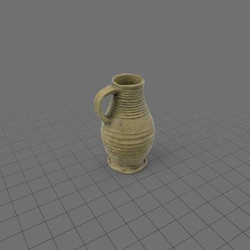 Unglazed ceramic wine jug