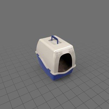 Enclosed cat litter box