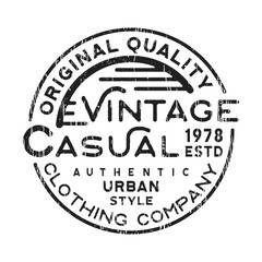 Casual vintage stamp