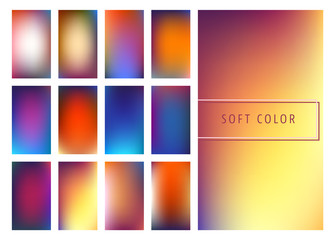 Soft color gradients background