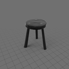 Stool with three legs