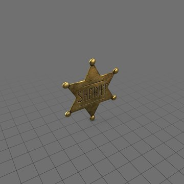 Star shaped sheriff badge