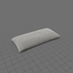 Long grey throw pillow