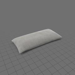 Long grey throw pillow