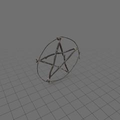 Wood pentagram