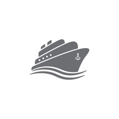 Ship icon. Simple Set of Transport Vector Line Icons.