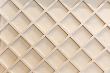 White wooden lattice for background