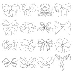 Ribbon, basma, bandage, and other web icon in outline style.Textiles, decor, bows, icons in set collection.