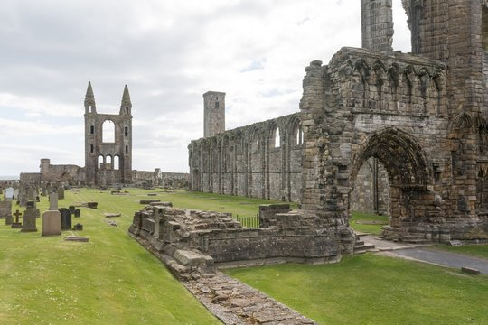 St Andrews Cathedral at Saint Andrews, Scotland