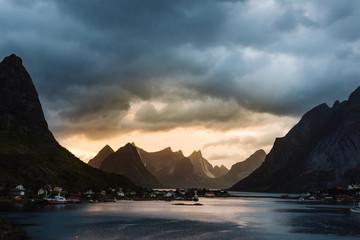 Picturesque landscape of mountains