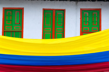 Fototapete - Colombian Flag View