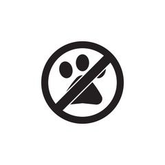 No Animal, prohibited sign icon