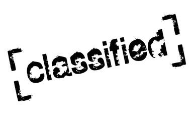 Classified sticker. Authentic design graphic stamp. Original series