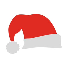santa claus hat christmas related icon image vector illustration design