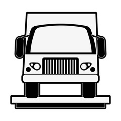 delivery truck icon image vector illustration design  black and white