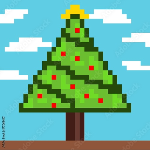 Christmas tree pixel art