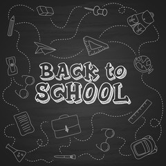 Back to school hand-drawn doodles background