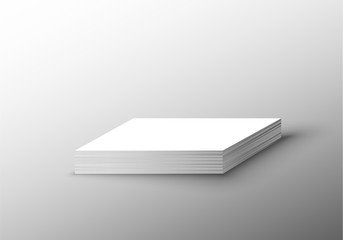 Realistic business card mock up. isolated on white background. copy space on paper card mock up.