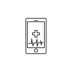 Technology Trends phone health pulse Icon