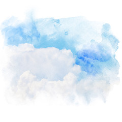 Blue sky with white cloud.