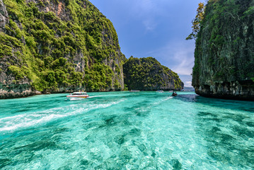 Printed roller blinds Island Beautiful crystal clear water at Pileh bay at Phi Phi island near Phuket, Thailand