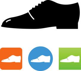Vector Men's Dress Shoe Icon