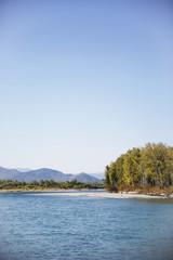 Katun river. Mountain Altai landscape
