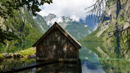 am Obersee im Berchtesgadener Land