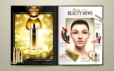 Beauty magazine template